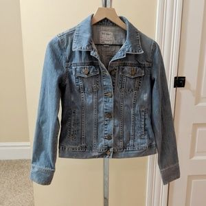 Old Navy slightly destressed jean jacket